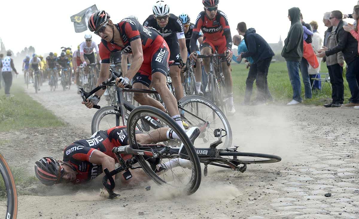 2014, Paris - Roubaix, Bmc 2014, Van Avermaet Greg, Burghardt Marcus, Bourghelles a Wannehain