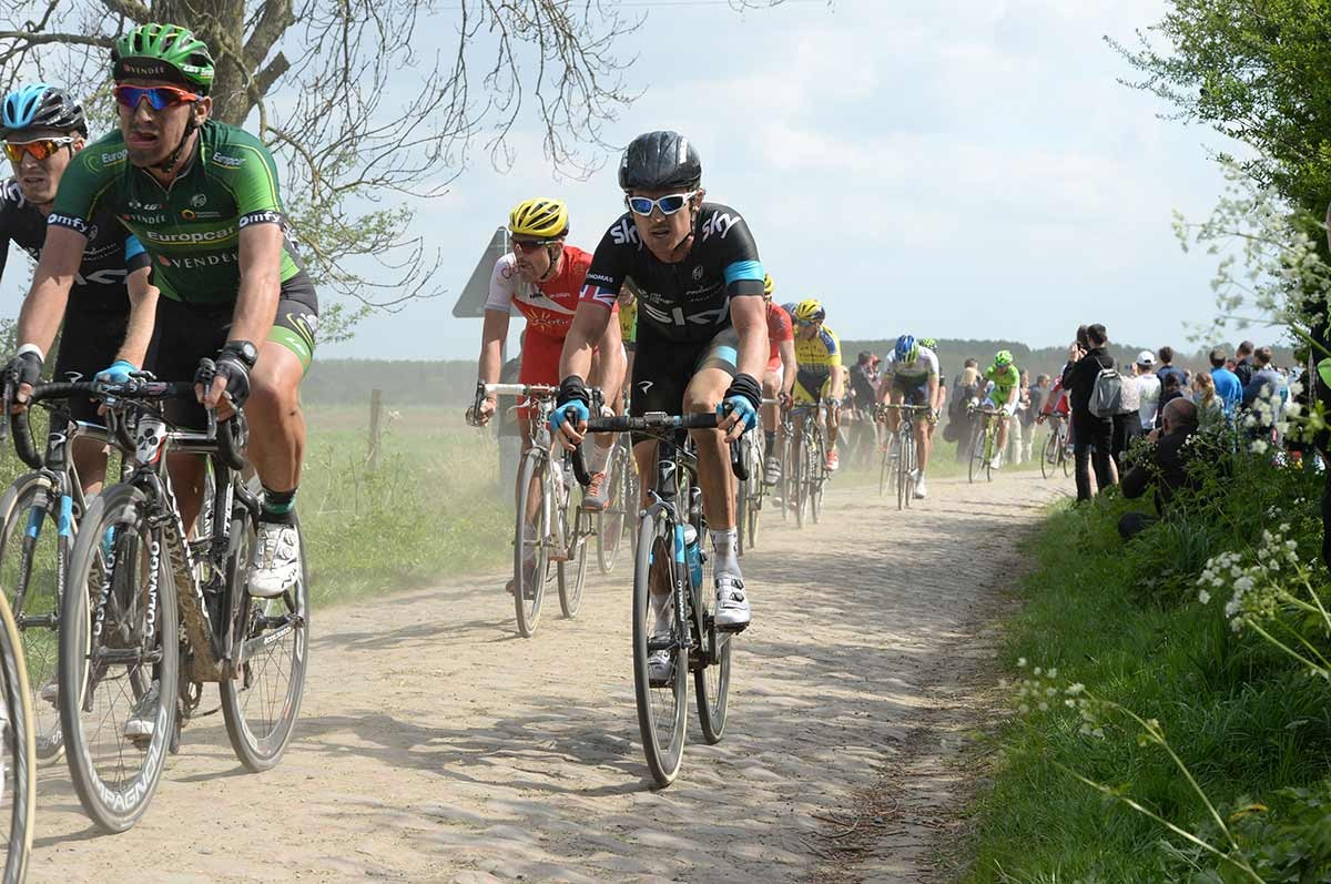 2014, Paris - Roubaix, Team Sky 2014, Geraint Thomas, Warlaing a Brillon